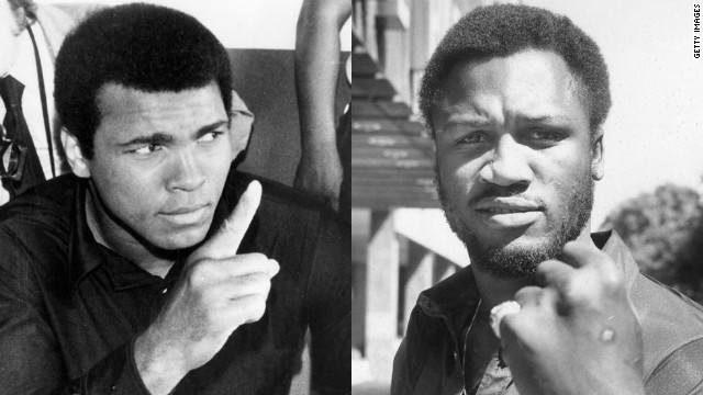 Muhammad Ali, left, demonized Joe Frazier to hype up their fights despite being showed respect outside the ring by his rival. He came up with the gorilla term to create a spectacle, which he knew was important, but it revved himself up too, Tu says. He needed to have a real enemy. By the end of the (Manila) fight, he said that Frazier brought out the best of him.