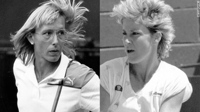 Martina Navratilova, left, and Chris Evert had one of the biggest rivalries in women's tennis. &quot;They ended up as good buddies, but that was when the battling had been done,&quot; Tu says. &quot;All of the respect and friendship you get in sport comes through competence first -- ' I know how hard it is to be this good, so I respect them for that.' &quot;