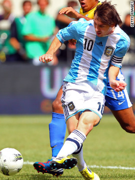 Messi has also had a standout year for the Argentina national team. He has scored 12 goals for his country in 2012, including a hat-trick against archrivals Brazil in June.