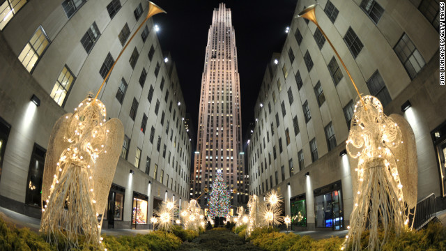 The notorious Rockefeller Center Christmas tree.