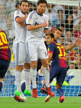 "Messi became Barca's all-time leading goalscorer in ""El Clasico"" matches against Real Madrid in August 2012. His free-kick in that match was his 15th in the fixture against Barca's archrivals."