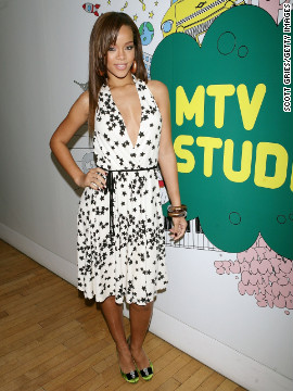 "In March 2006, she poses for a photo during MTV's ""Total Request Live"" in New York City."