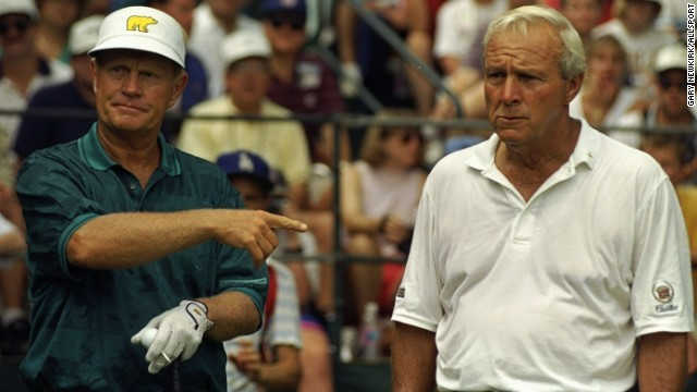 "They are following in golf's great tradition of rivalries -- most notably Jack Nicklaus, left, and Arnold Palmer. ""The power of the mind and the capability of that mental discipline is what separates the good from the great,"" sports leadership expert Khoi Tu told CNN. ""That might allow them to become friends with people off the course, but not on the course."""