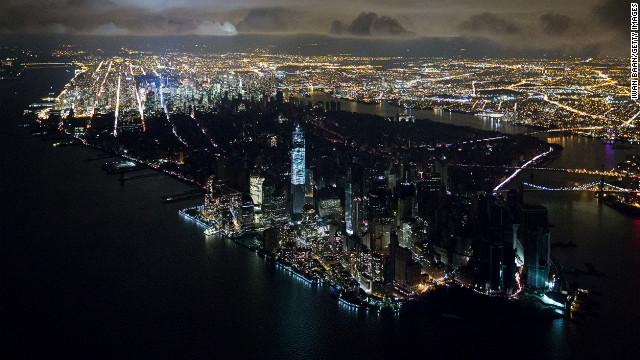 &lt;strong&gt;November 1:&lt;/strong&gt; An aerial view of New York reveals a widespread power outage after Superstorm Sandy. Photographer Iwan Baan credits his camera for allowing him to capture the memorable image from a helicopter at night. He told the Poynter Insitute that with older equipment, the shot would have been impossible.