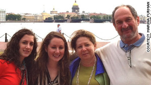 The Furmans -- from left, Michal, Aliyah, Marina and Lev -- visit St. Petersburg (formerly Leningrad) for closure in 2012.