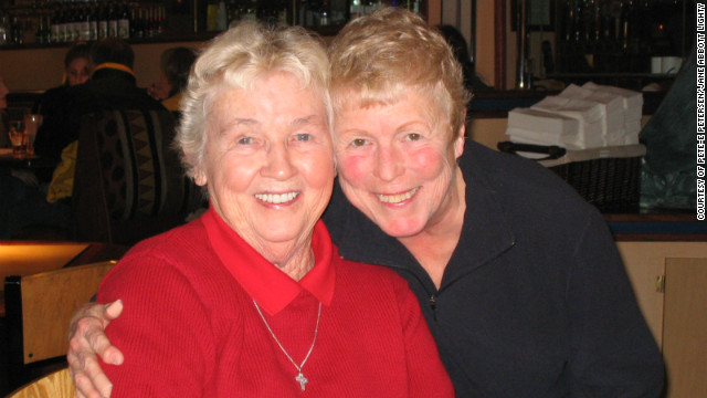 Pete-e Petersen (left), 85, and Jane Abbott Lighty, 77, have been a couple for 35 years. 