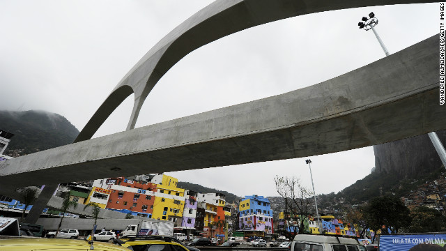Niemeyer designed this footbridge in Rocinha, which is located in the south of Rio de Janeiro.