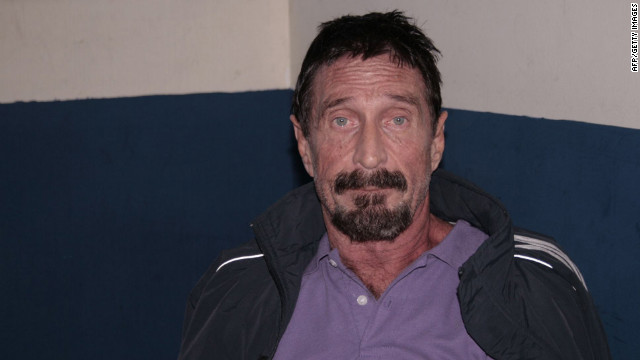 Belize authorities have said they want to talk to McAfee about the shooting of American businessman Gregory Faull.