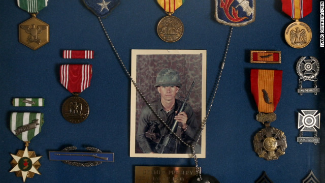 Delmer Presley's medals from Vietnam.