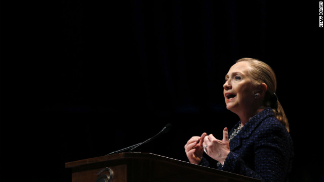 Clinton defends Rice, pushes off 2016 speculation