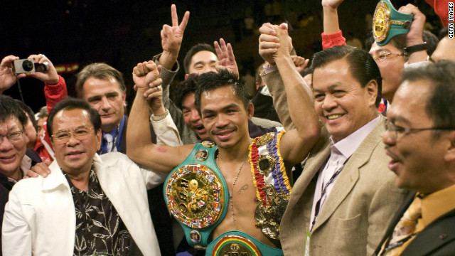 Pacquiao was given the fight and subsequently took Marquez's super featherweight title, with a knockdown in the third round proving the difference after all other rounds were scored equal.