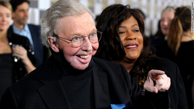 Roger Ebert fractures hip dancing, his wife jokes