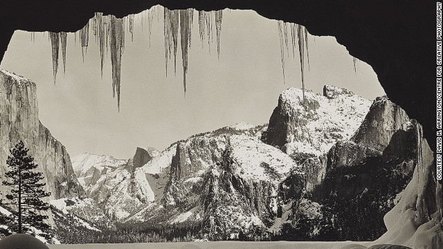 From Wawona Tunnel, Winter, Yosemite, about 1935.
