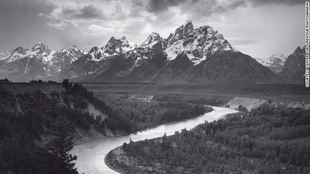 The Tetons and the Snake River, Grand Teton National Park, Wyoming, 1942.