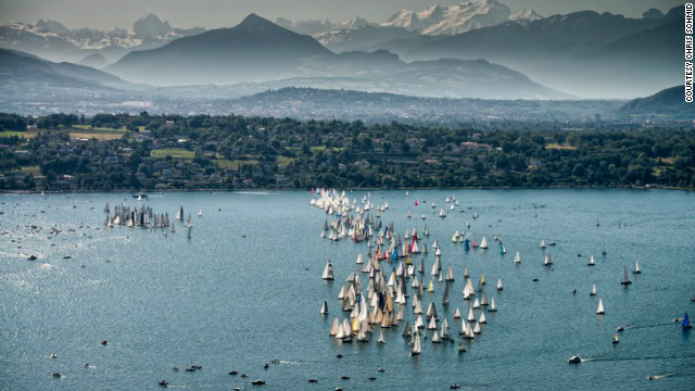 The fifth annual photography competition was only open to professional photographers. Here, Chris Schmind captures the varied blue hues of the Bol d'Or Mirabaud.