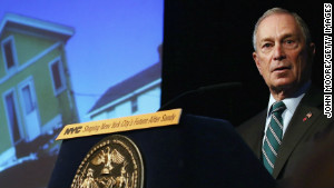 New York City Mayor Michael Bloomberg speaks on Thursday about long-term challenges facing the city after Sandy.