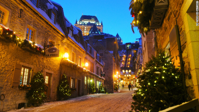 Quebec's French Quarters offer modern-day Victorians candle-lit evening of stories from Charles Dickens, detailing the Christmas traditions of yore.