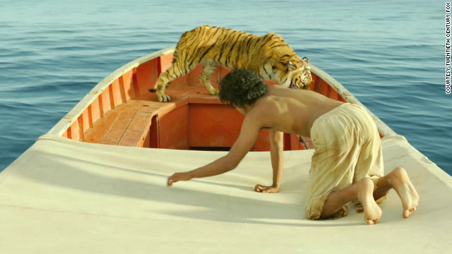 Maybe the best use of 3-D yet, Ang Lee's visually intoxicating treatment of Yann Martel's prize-winning novel about a boy (Suraj Sharma) lost at sea with only a tiger for company is an exquisite poetic fable that also bares ferocious teeth.