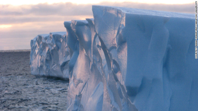 As the Arctic warms, both glaciers and ice-shelves are launching floating islands into the sea that may threaten shipping, the fishing industry and off-shore oil and gas platforms.