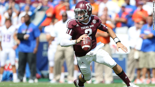 Manziel at Kyle Field on September 8.