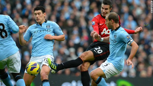 The match was settled in the second minute of time added on by Manchester United's Dutch striker Robin Van Persie.