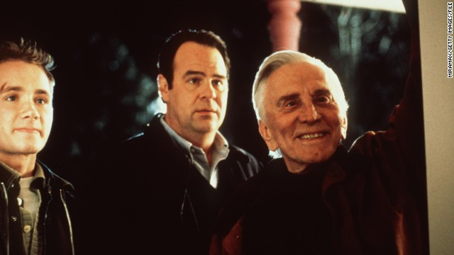 From left, Corbin Allred, Dan Aykroyd, and Kirk Douglas star in &quot;Diamonds,&quot; 1999.