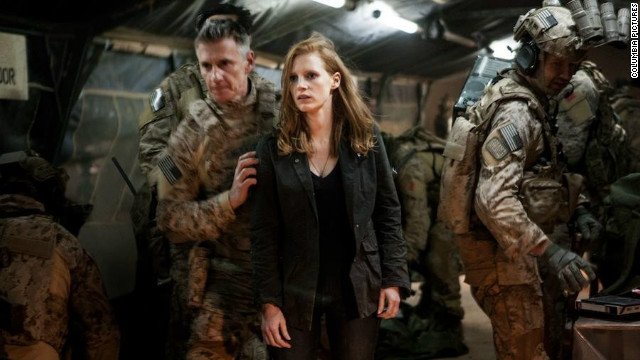 Jessica Chastain plays CIA analyst Maya, a woman in a predominantly masculine world, in Kathryn Bigelow's 