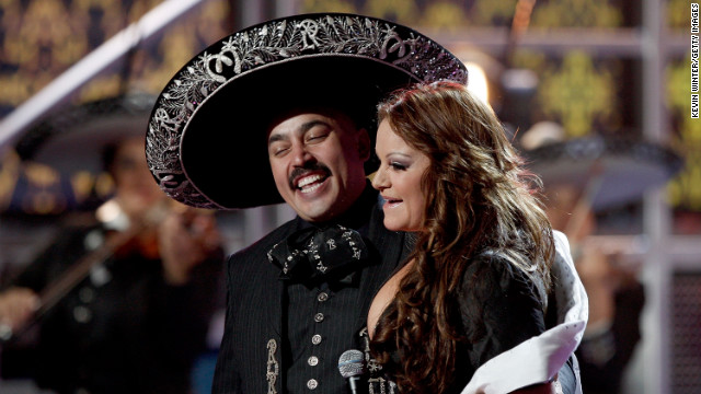 Lupillo and Jenni Rivera team up during the ninth annual Latin Grammy Awards in November 2008 in Houston. 