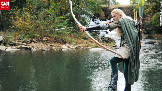 Palmer met her boyfriend, Chris Herzberg, a dead ringer for Legolas, at Atlanta's Dragon*Con a few years ago. They work together on her costuming business and plan to attend a weekend screening of &quot;The Hobbit&quot; in full dress.