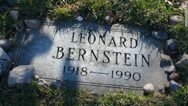 "Famed composer Leonard Bernstein, who penned the score for ""West Side Story,"" is buried at Green-Wood."