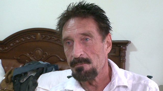 Mystery follows McAfee to Miami