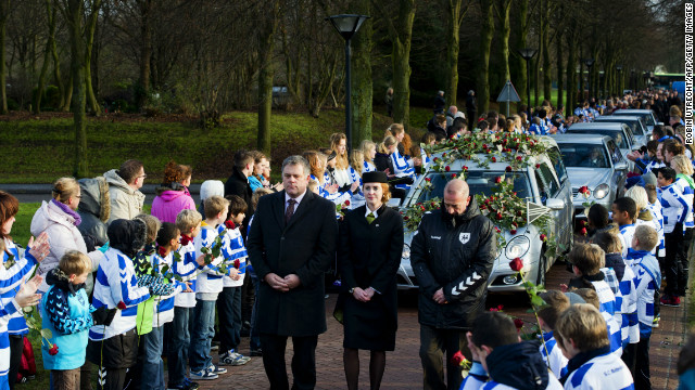 Funeral for slain Dutch soccer linesman