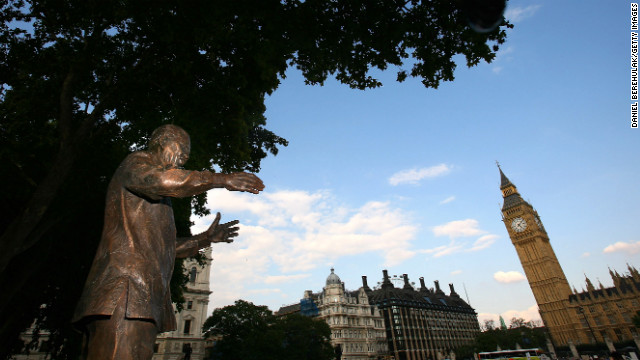 A bronze statue of Mandela was unveiled in Parliament Square in London on August 29, 2007. The 9-foot statue faces the Houses of Parliament.
