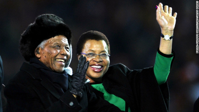 Mandela's wife overwhelmed by global support