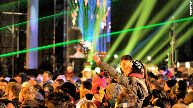Berlin is renowned for hosting one of the world's largest open-air New Year celebrations. DJ's entertain music fans along the &quot;Party Mile&quot;: a two kilometer strip of dancefloors, stages and bars behind the Brandenburg Gate.