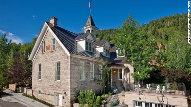 Washington School House in Park City, Utah, is a boutique hotel housed in a historic school house dating back to 1889.
