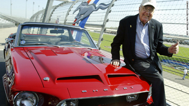 &lt;a href='http://money.cnn.com/2012/05/11/autos/carroll-shelby-obit/index.htm' target='_blank'&gt;Carroll Shelby&lt;/a&gt;, famous for creating high-performance road and racing cars bearing his name, died on May 10 in Dallas. He was 89. His name is probably most associated with the Cobra and the Shelby line of Ford Mustang-based performance cars.