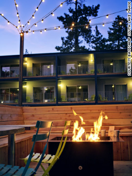Basecamp South Lake Tahoe is a friendly 50-room retreat in the heart of the Lake Tahoe Basin in California.