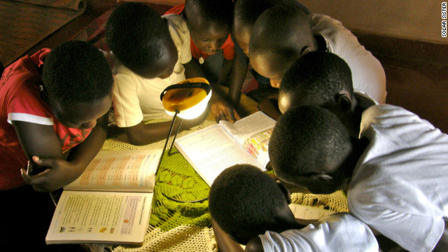 The group says that access to light can have a big impact on people's lives -- children can study more and go to school while women can set up their own business and have a steady flow of income.