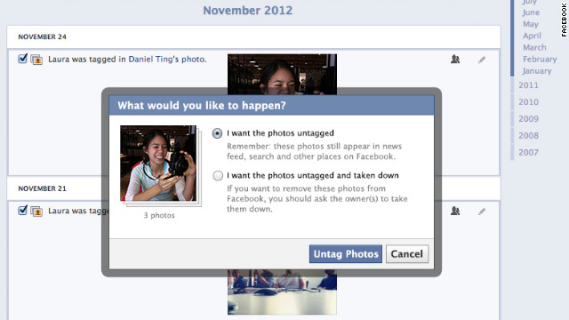 Among Facebook's new privacy features will be the ability to request that photos of you be removed entirely from the site.