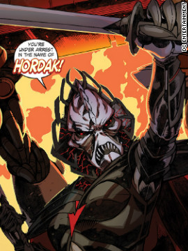 The evil Lord Hordak raised She-Ra's alter ego Princess Adora in the dark dimension of Despondos.