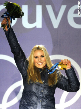 Vonn's only Olympic gold medal to date came in the downhill competition at the 2010 Winter Olympics in Vancouver. &quot;Seeing my name and the number one next to it was the best feeling I've had in my life,&quot; she told reporters.