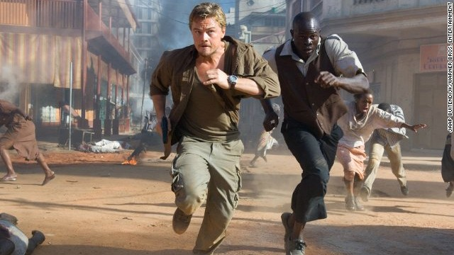 "Starring Leonardo DiCaprio and Djimon Hounsou, ""Blood Diamond"" highlights the horrors related to the illegal trade of ""conflict"" gems in Africa. Set in wartime Sierra Leone during the late 1990s, the film depicts an ex-mercenary, played by DiCaprio, trying to recover a rare pink stone from a local fisherman whom rebels have forced to dig in the diamond pits."