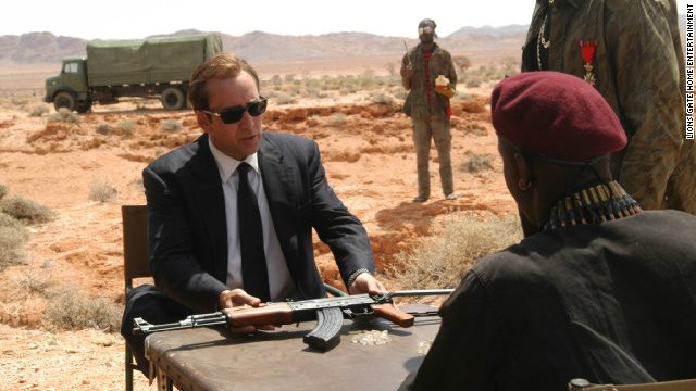 """Lord of War"" stars Nicolas Cage as an illegal arms dealer."