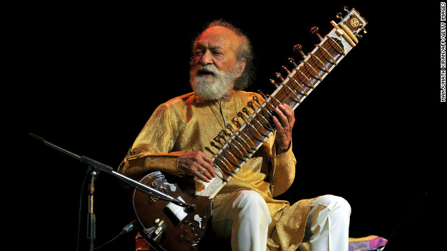 Indian sitar maestro <a href='http://www.cnn.com/2012/12/12/showbiz/california-ravi-shankar-obit/index.html' target='_blank'>Ravi Shankar</a> died December 11 at age 92. The legendary sitar player brought Indian music to the West and taught Beatle George Harrison how to play the stringed instrument. Among his survivors is daughter Norah Jones, the pop and jazz singer.
