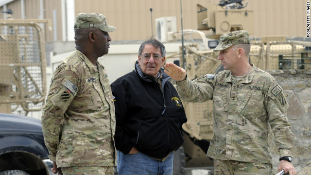 Car bomb injures 3 coalition troops at Afghan airfield hours after Panetta's visit