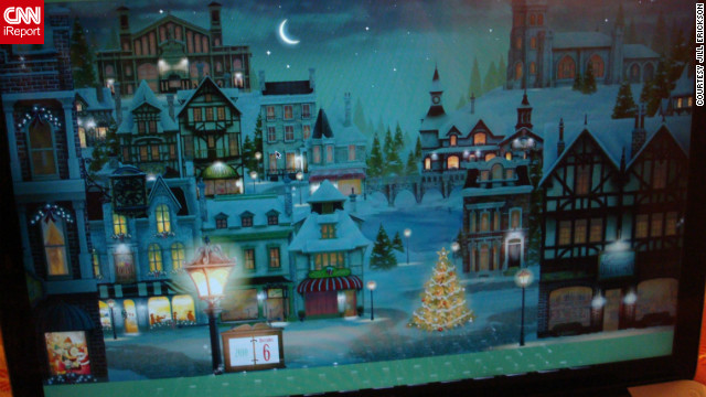 Erickson and her partner celebrate Christmas with this Advent calendar while lighting a menorah for each day of Hanukkah.
