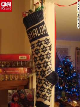 One of Erickson's favorite Chrismukkah decorations is a Shalom stocking adorned with jingle bells. &quot;We try to have a good sense of humor about the whole blending thing,&quot; she said.