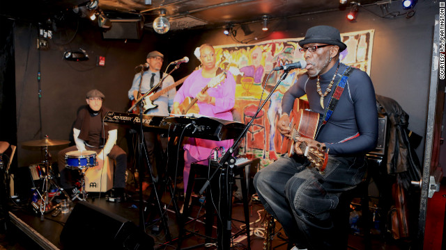 Musicians perform at Kevin Powell's 12th annual holiday party, which raised money for Superstorm Sandy relief.