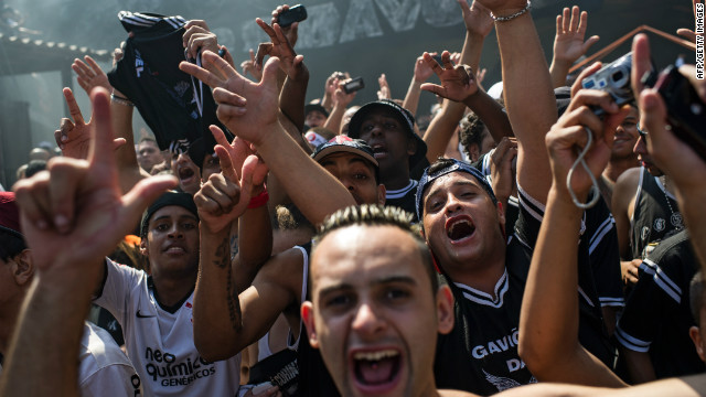 Back in Sao Paulo, fans of the Brazilian club were determined to join in the celebrations after the Copa Libertadores winners reached the Club World Cup final with a 1-0 semifinal win over Al-Ahly.